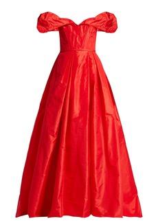 Carolina Herrera Off-the-shoulder silk-taffeta gown