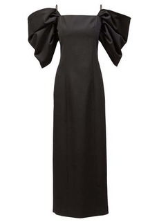 Carolina Herrera Off-the-shoulder tailored wool sheath dress