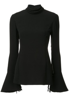 Carolina Herrera open-back fluted blouse