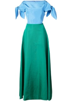 Carolina Herrera open back gown - Green