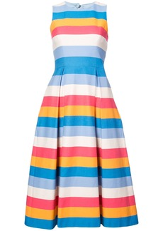 Carolina Herrera open back midi dress - Multicolour