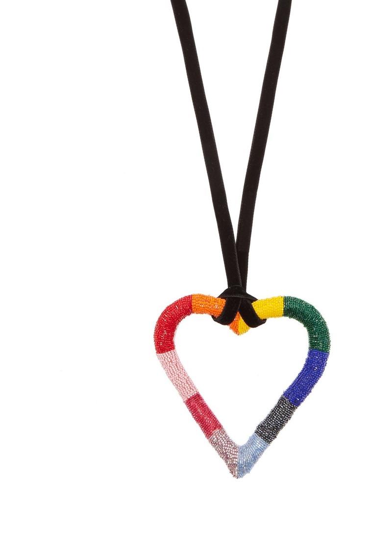 Carolina Herrera Oversized heart pendant necklace