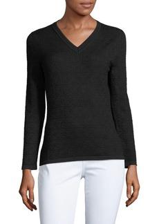 Carolina Herrera Patterned Silk & Cashmere-Blend Top