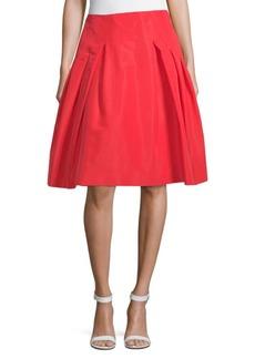 Carolina Herrera Pleated Silk Party Skirt