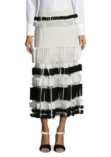Carolina Herrera Pleated Silk Skirt