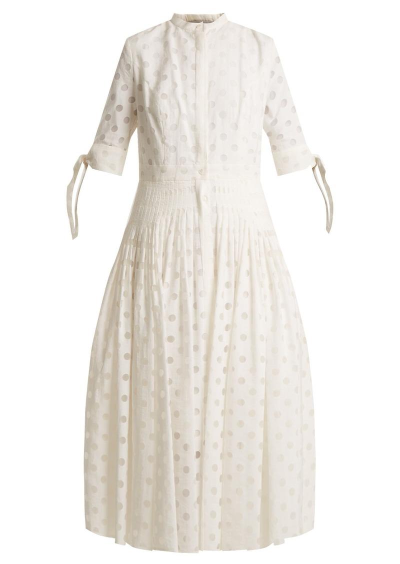 Polka Dot Pleated Dress