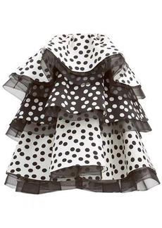 Carolina Herrera Polka dot ruffled silk mini dress