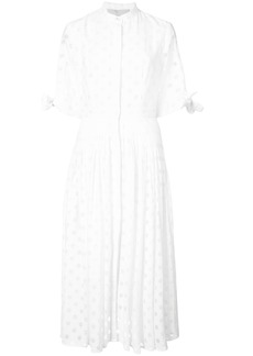 Carolina Herrera polka dot shirt dress - White