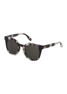 Carolina Herrera Round Acetate Sunglasses