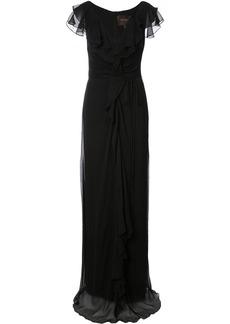 Carolina Herrera ruched detail long dress