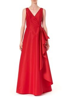 Carolina Herrera Ruffle Panel A-Line Silk Gown