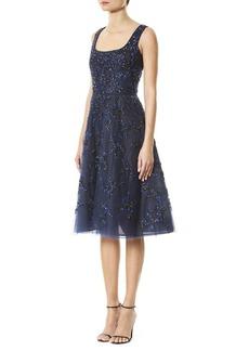 Carolina Herrera Sequin Embroidered Dress