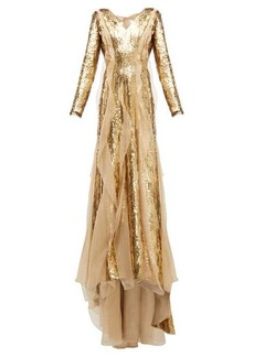 Carolina Herrera Sequinned silk-organza gown