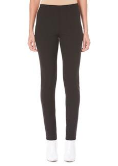 Carolina Herrera Side-Zip Skinny Wool-Blend Pants