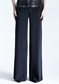 Carolina Herrera Silk Crepe Wide-Leg Trousers