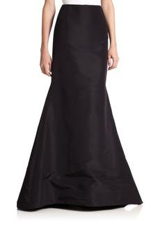 Carolina Herrera Silk Faille Long Trumpet Skirt