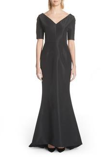 Carolina Herrera Silk Faille Mermaid Gown