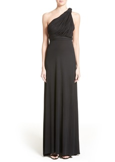 Carolina Herrera Silk Jersey One-Shoulder Gown