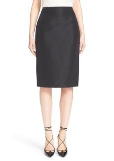 Carolina Herrera Silk Pencil Skirt