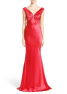 Carolina Herrera Silk Satin Gown