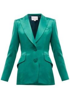 Carolina Herrera Single-breasted satin jacket