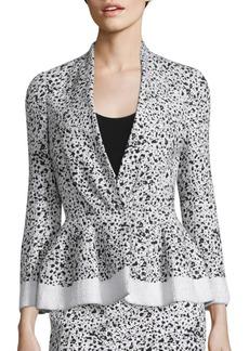 Carolina Herrera Splatter-Print Tweed Jacket