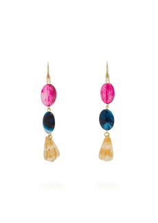 Carolina Herrera Stone & shell-drop earrings