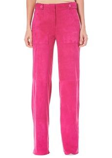 Carolina Herrera Straight-Leg Suede Pants