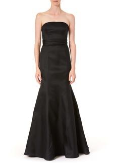 Carolina Herrera Strapless Silk Trumpet Gown