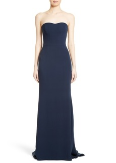 Carolina Herrera Strapless Sweetheart Column Gown