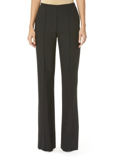Carolina Herrera Stretch Wool Wide-Leg Pants  Black