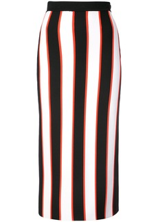 Carolina Herrera striped pencil skirt - Black