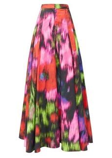 Carolina Herrera Superbloom-print poplin wide-leg trousers