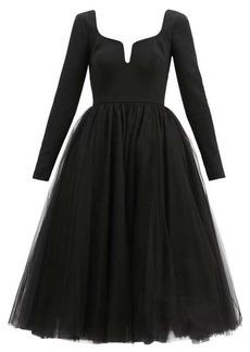 Carolina Herrera Sweetheart-neckline crepe and tulle dress