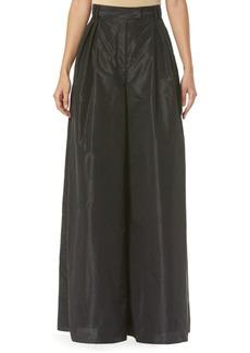 Carolina Herrera Taffeta High-Waist Wide-Leg Pants