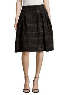 Carolina Herrera Textured Party Skirt