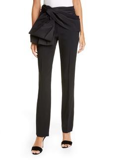 Carolina Herrera Tie Belt Straight Leg Pants