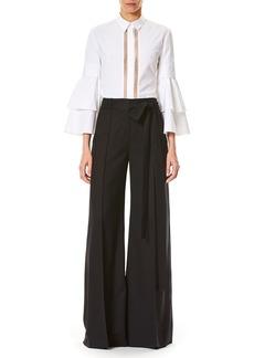 Carolina Herrera Tie-Waist Wide-Leg Pants