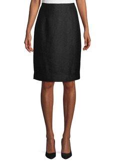 Carolina Herrera Tweed Knee-Length Pencil Skirt