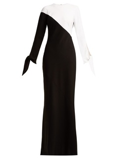 Carolina Herrera Two-tone crepe gown