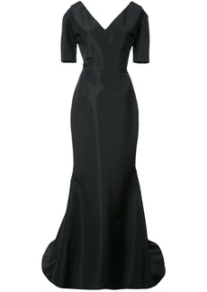 Carolina Herrera v-neck mermaid gown