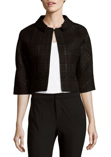 Carolina Herrera Weave-Pattern Wool-Blend Jacket