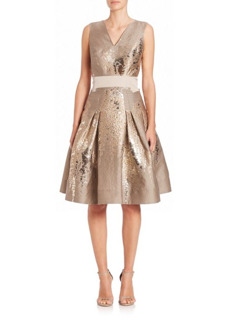 Carolina Herrera Wisteria Jacquard Cocktail Dress