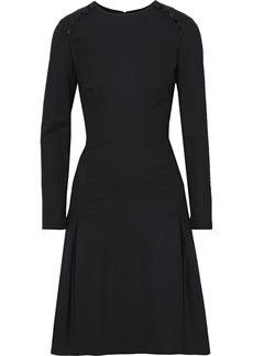 Carolina Herrera Woman Button-embellished Stretch-wool Dress Black