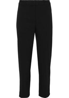 Carolina Herrera Woman Cropped Wool-blend Twill Tapered Pants Black