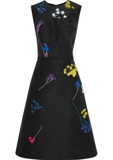 Carolina Herrera Woman Embellished Silk-faille Dress Black