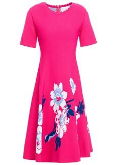Carolina Herrera Woman Flared Floral-jacquard Dress Fuchsia