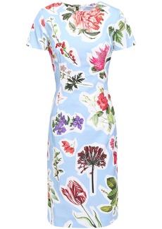 Carolina Herrera Woman Floral-print Cotton-blend Dress Light Blue