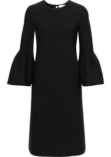 Carolina Herrera Woman Fluted Wool-blend Dress Black