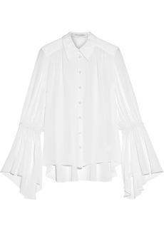Carolina Herrera Woman Gathered Silk Crepe De Chine Shirt White